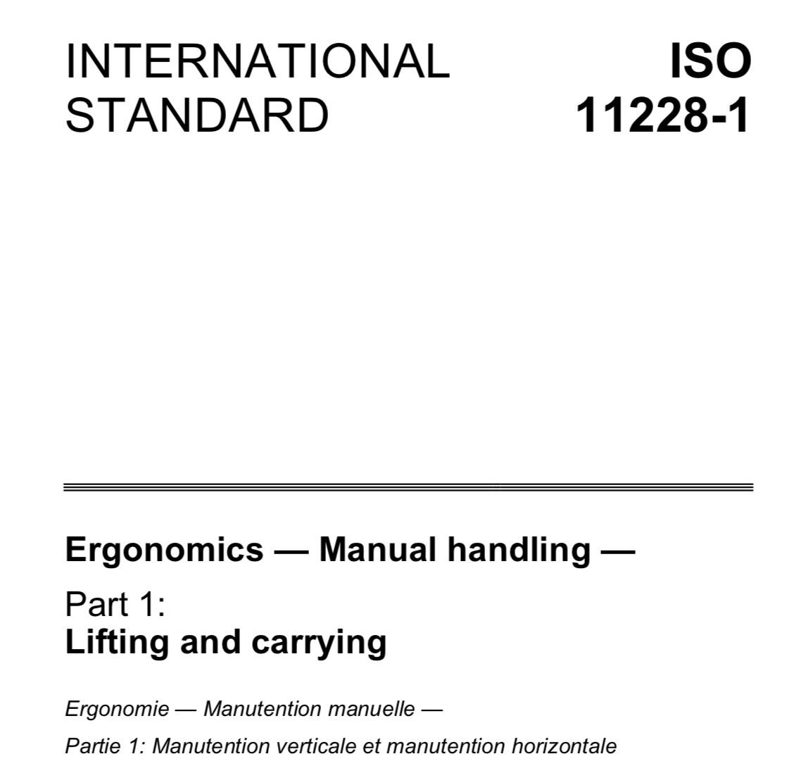 Sovraccarico biomeccanico: la revisione della norma ISO 11228-1