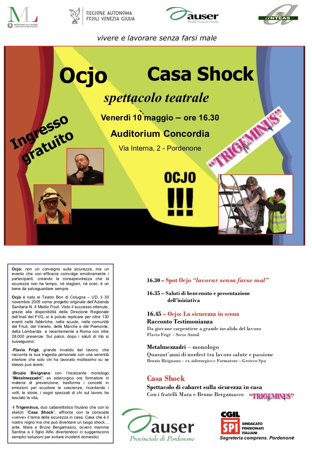 Ocjo 155 – 10 maggio 2019 – Auditorium Concordia – Pordenone