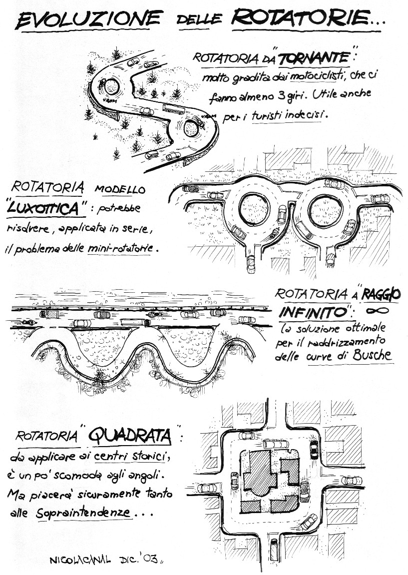 Nicola Canal e le rotatorie
