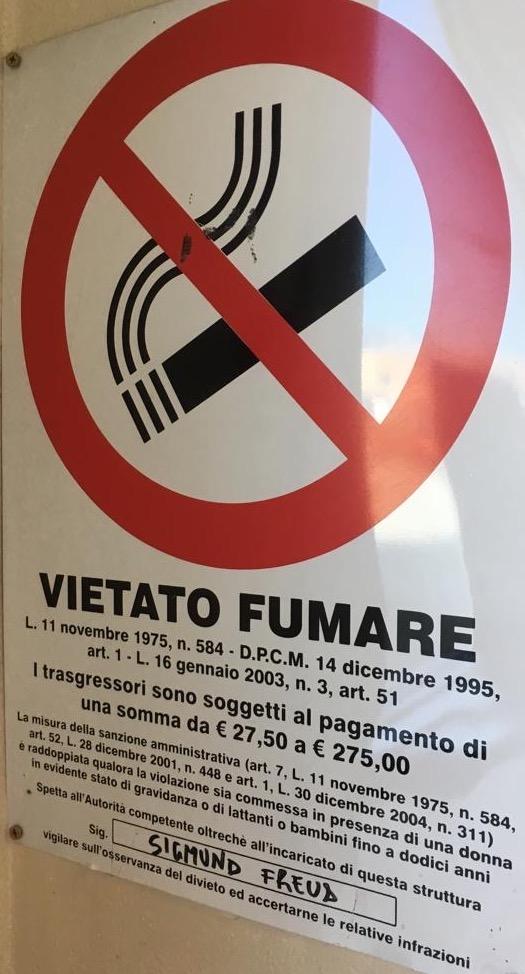 """vietato fumare … con incaricato """"speciale"""" e di un certo spessore"""