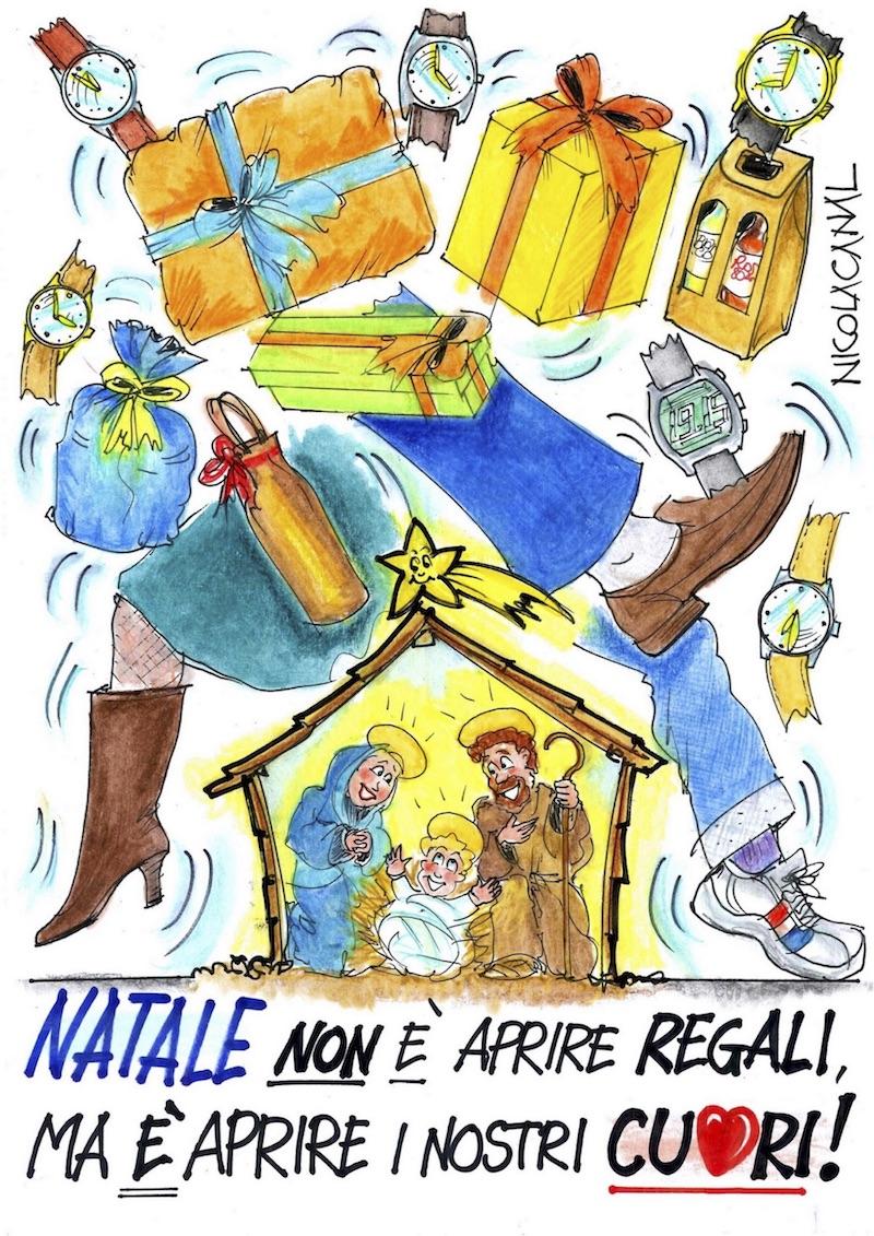 La vignetta degli auguri di Buon Natale di Nicola Canal